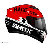 Capacete Shox Race Corp Red