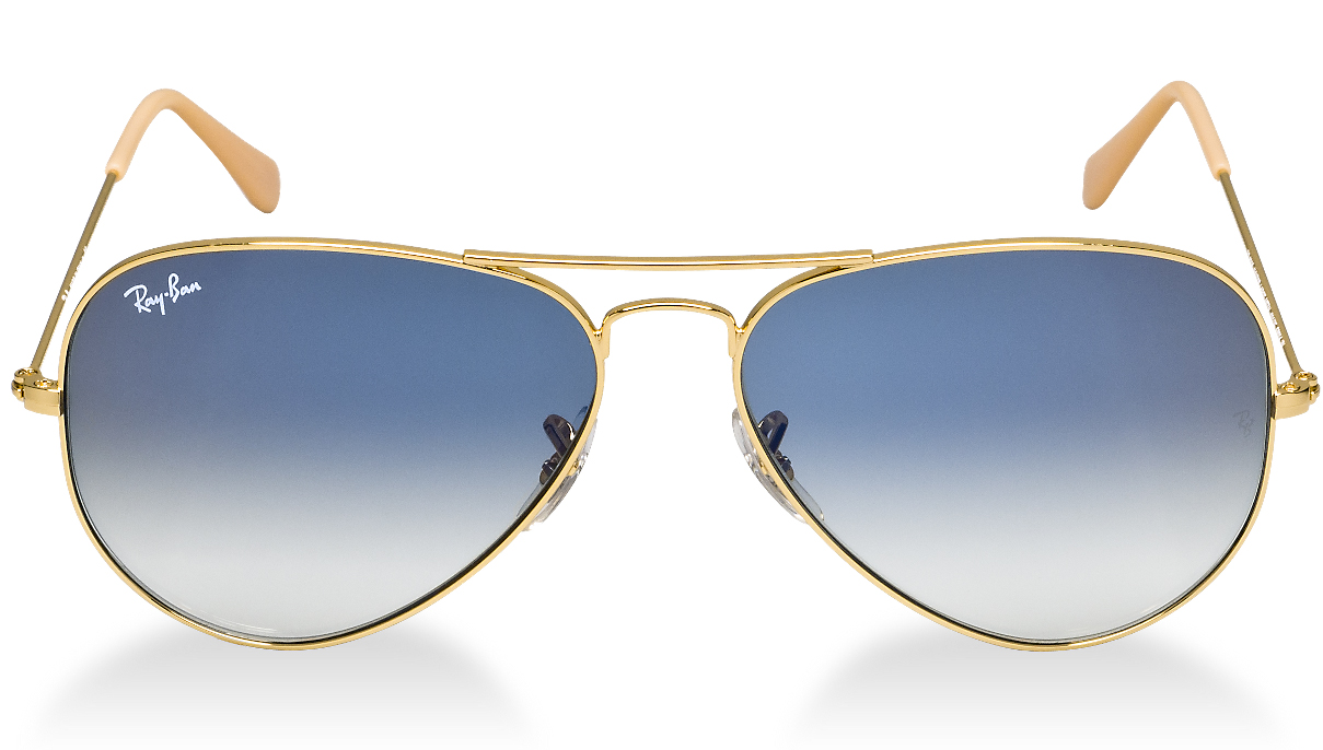 lente ray ban aviator 3025 azul degrade