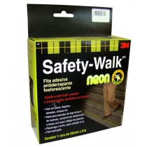 Fita adesiva 3M antiderrapante fosforescente Neon Safety-Walk 50mm. X 5 m.