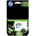 Cartucho HP 670XL/ Alto Rendimento/ 8 ml/ CZ118AB - Ciano