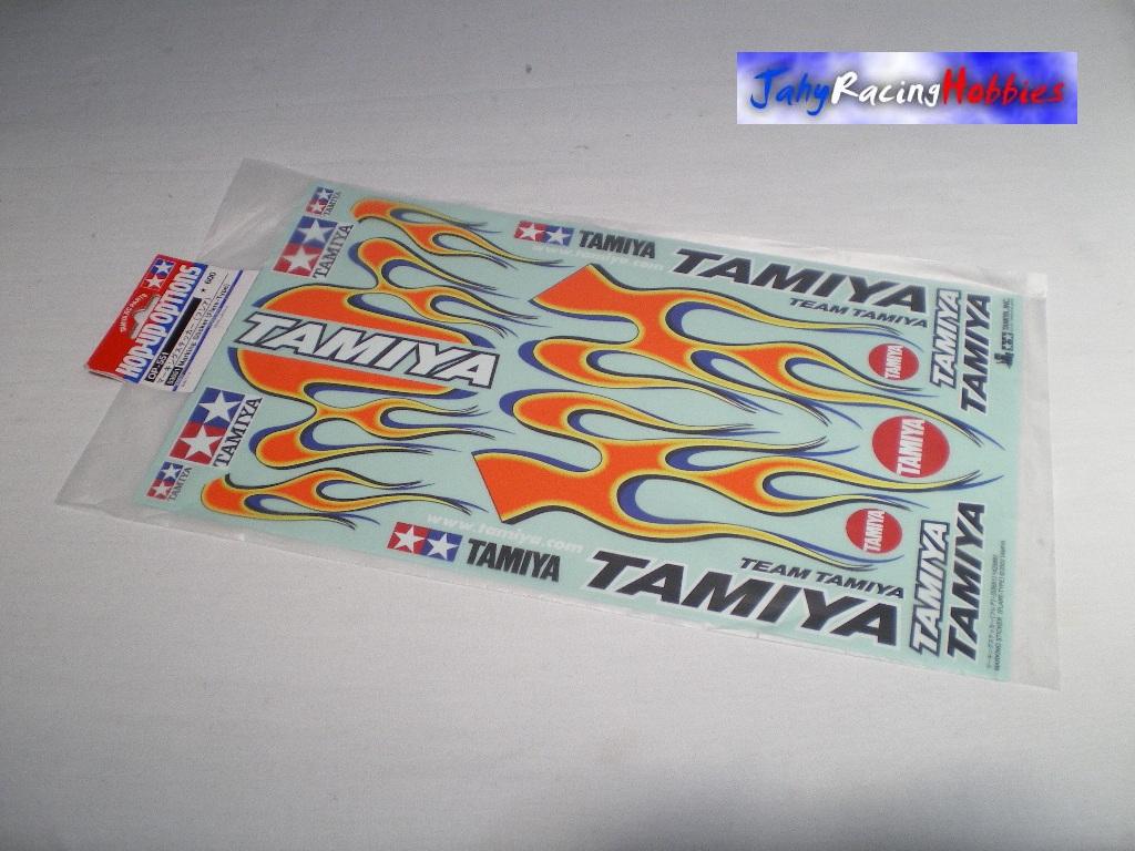 Descreva Artesanato Manufatura E Maquinofatura ~ Cartela de Adesivos Chamas de Fogo Tamiya
