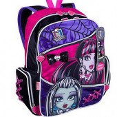 Mochila de Costas (G) | MONSTER HIGH | 63593 | Preto/Rosa
