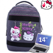 Mochila Feminina | Hello Kitty & Mad Barbarians | Cole��o BOOGIE | 8116 | Cinza