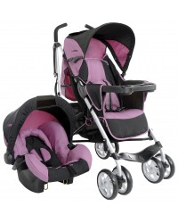 Travel System Cross Rosa e Preto