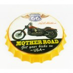 Placa decorativa em metal - Route 66 (rota 66)