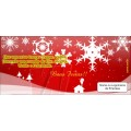 Ref. 0016 ** 6 PE�AS** Cart�es de Natal 20,0 x 9,0cm - Impres�o Digital