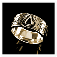 Anel Folheado a Ouro 18k - Assassins Creed - 1087F