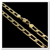 Corrente Folheada a Ouro 18k - Groumet  - 70cm - 6,5mm - 290
