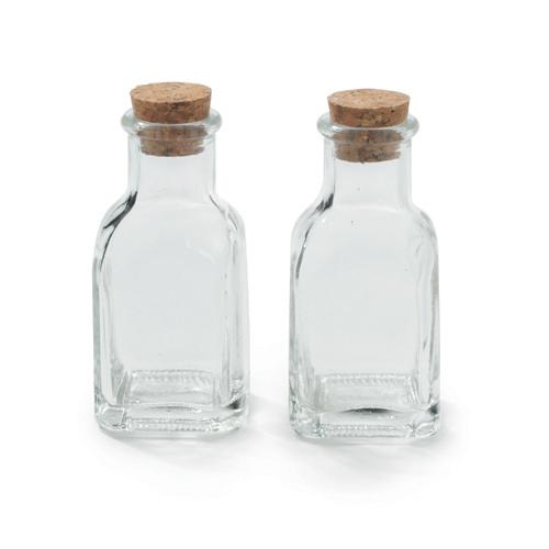 mini jardim curitiba:Mini Garrafa Vidro Quadrada Composê – Transparente – 02 unidades