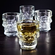 Kit com 4 Copos de Caveira - Crystal Head
