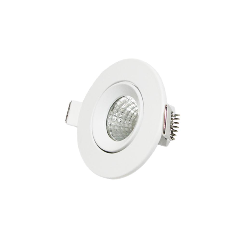 Lâmpada LED COB com Base Spot Embutir Direcionavel 3W Redondo - Branco Frio / Quente cod. IDPROD_2590 - BARCODE_SH8061 / SH8062
