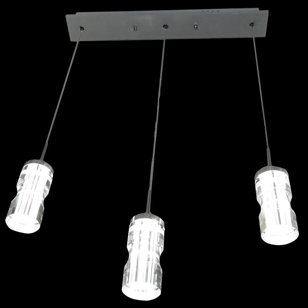 Luminaria de Led Lustre Base Quadrada com 3 pêndulos retangulares 30w - 506 - 3Q cod. IDPROD_2854 - BARCODE_SH16090