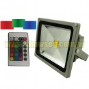 Refletor de LED - RGB 30W + Controle Gr�tis At� 16 Cores - IP65