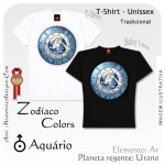 Camiseta Aqu�rio Zod�aco Colors