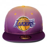 Bon� New Era Los Angeles Lakers 59FIFTY Roxo / Amarelo