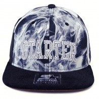 Bon� Starter Black Label Snapback Smoke Preto / Branco