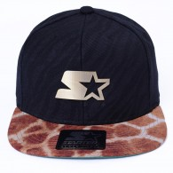 Bon� Starter Black Label Strapback Animal Preto / Marrom