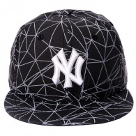 Bon� New Era Snapback New York Yankees 9Fifty Preto Refletivo