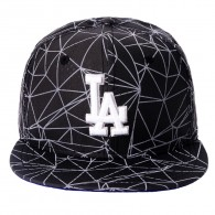 Bon� New Era Snapback Los Angeles Dodgers 9Fifty Preto Refletivo