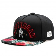 Bon� Cayler And Sons Snapback Amsterdam Preto / Aba Floral