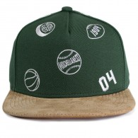 Bon� Mitchell and Ness Snapback Function Verde / Aba Couro