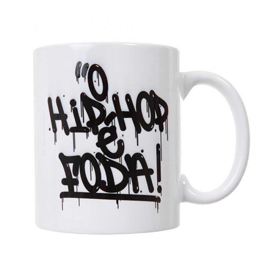 Caneca Laboratório Fantasma O Hip Hop é Foda Branca - Laboratório Fantasma