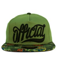 Bon� Official Strapback Script Green/Printed/Black