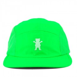 Bon� Grizzly Strapback Five Panel Hat Lime Green