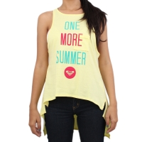 Camiseta Roxy Regata One More Summer Yellow/Green/Wine