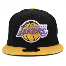 Bon� New Era 59FIFTY Los Angeles Lakers Black/Yellow