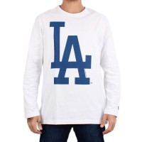 Camiseta New Era Manga Longa Los Angeles Dodgers White