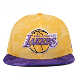 Bon� New Era 59FIFTY Los Angeles Lakers Camo Yellow/Purple