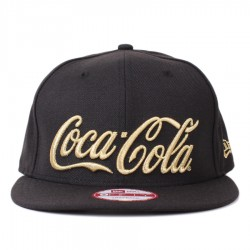 Bon� New Era 9FIFTY Snapback Coca Cola Script Black/Gold
