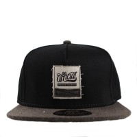 Bon� Official Strapback Canvas Swatch BLK Black/Mescla Green