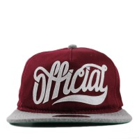 Bon� Official Strapback Unstructured Burgs Wine/Grey