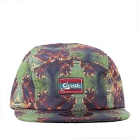 Bon� Official Strapback Five Panel Suede Cheetahs Green/Printed