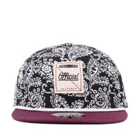 Bon� Official Strapback Yatch Goth Black/White Printed/Purple