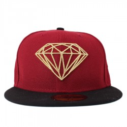 Bon� New Era 59FIFTY Diamond Supply Co Brilliant Wine/Black