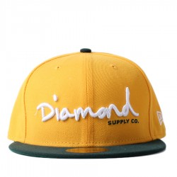 Bon� New Era 59FIFTY Diamond Supply Co Script Yellow/Green