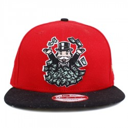 Bon� New Era 9FIFTY Snapback Monopoly Broke As A Joke Red/Black