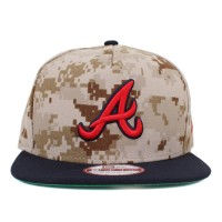 Bon� New Era 9FIFTY A-Frame Strapback Atlanta Braves Digi Camo Brown/Navy