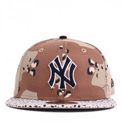 Bon� New Era 59FIFTY New York Yankees Brown Camo/White Printed