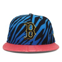 Bon� New Era 9FIFTY Strapback Boston Red Sox Blue/Printed/Salmon