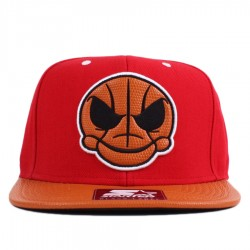 Bon� Starter Snapback Skull Basketeball Red/Orange