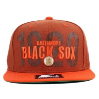 Bon� Starter Snapback Black Sox Tweed Brown/Orange