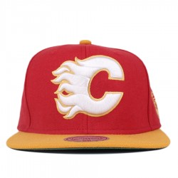 Bon� Mitchell and Ness Snapback Calgary Flames Red/Yellow