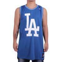 Camiseta New Era Regata Los Angeles Dodgers Machão Basketball Tank Royal