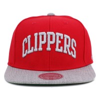 Bon� Mitchell and Ness Snapback Los Angeles Clippers Red/Grey