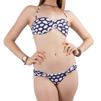 Biquini Roxy Twist Sandeau Navy / White