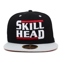 Bon� Skill Head Strapback Script Run DMC Black/Grey